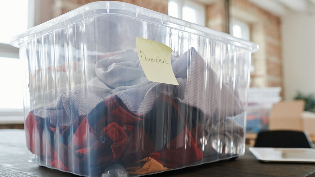donation box in office