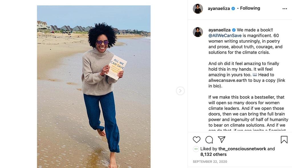 screenshot of @ayanaeliza on Instagram