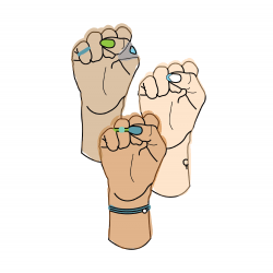 illustration of fists held up