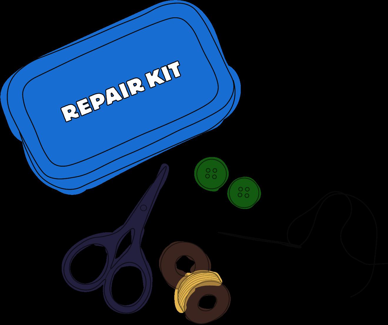 repair kit illustration