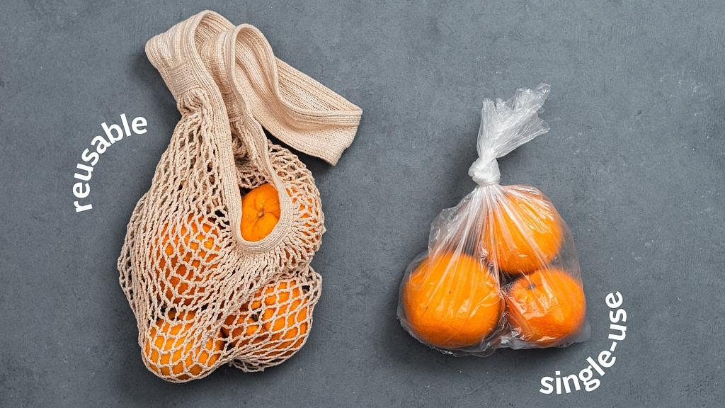 reusable vs. single-use packaging